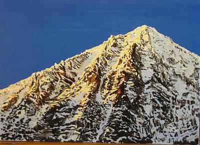 Ice Climbing Painting - Carrauntoohill In Show by Martin Mc Cormack
