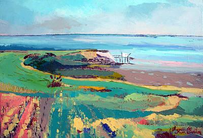 Charente Maritime Painting - Fishing Inn by Kim PARDON