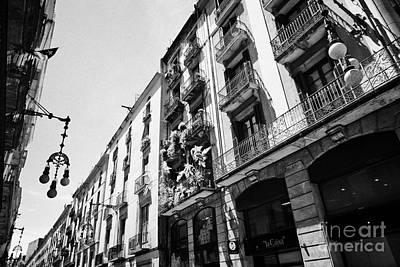 carrer de la boqueria shopping street old town gothic quarter Barcelona Catalonia Spain Art Print by Joe Fox