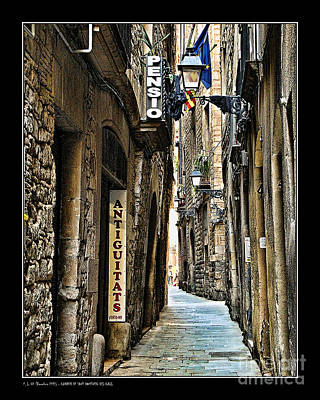 Carrer De Sant Domenec Del Call Art Print