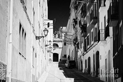 Capella Photograph - Carrer Del Portal Del Carro Leading To The Chapel Of Sant Magi Tarragona Catalonia Spain by Joe Fox