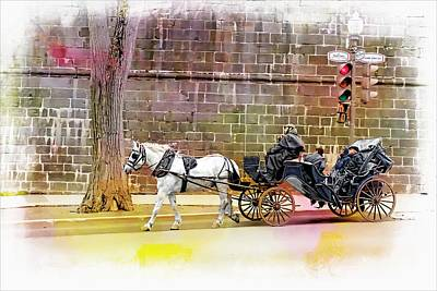 Photograph - Carriage Rides Series 04 by Carlos Diaz