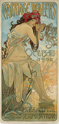 Mucha Drawing - Carriage Dealers by Alphonse Mucha