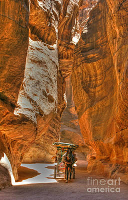 Photograph - Carriage In The Siq 2 by David Birchall
