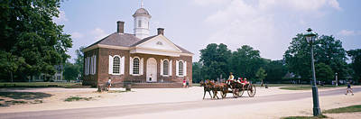 Carriage Road Photograph - Carriage Moving On A Road, Colonial by Panoramic Images