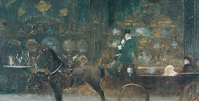 Coach Party Painting - Carriage Ride by Giuseppe De Nittis