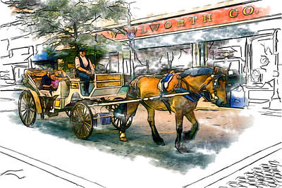 Asheville Mixed Media - Carriage Ride by John Haldane