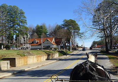 Photograph - Carriage Ride Through Helen Georgia by Denise Mazzocco