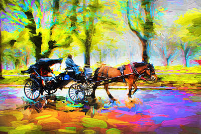 Photograph - Carriage Rides Series 02 by Carlos Diaz