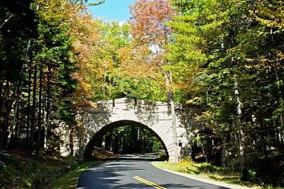 Carriage Road Bridge In Fall Anp Original
