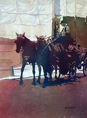 Horse Drawn Carriage Painting - Carriage Trade by Kris Parins