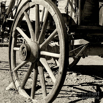 Photograph - Carriage Wheel By Diana Sainz by Diana Raquel Sainz