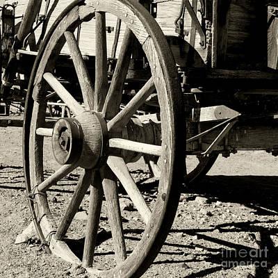 Photograph - Carriage Wheel By Diana Sainz by Diana Raquel Sainz