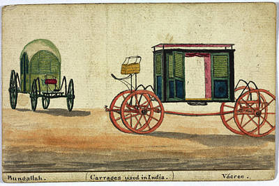 Carriage Road Photograph - Carriages Used In India by British Library