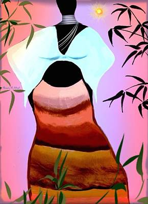 Carribeanqueen Art Print by Romaine Head