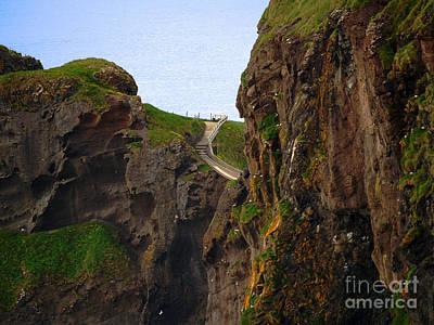 Photograph - Carrick-a-rede Bridge IIi by Patricia Griffin Brett