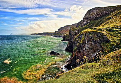 Antrim Photograph - Carrick A Rede Coastline by Marcia Colelli