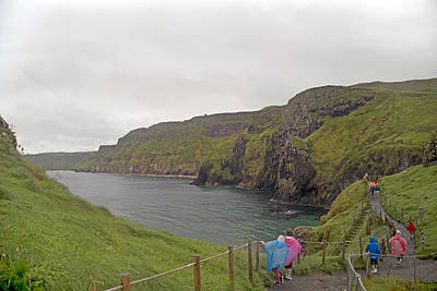 Redes Photograph - Carrick-a-rede Northern Ireland by Betsy Knapp