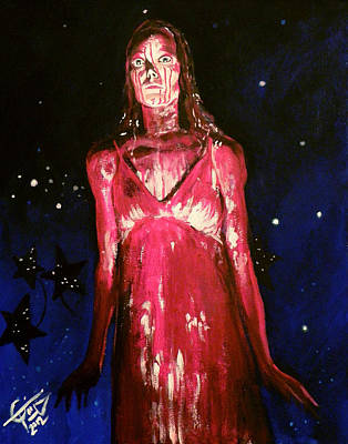 Carrie Painting - Carrie by Tom Carlton
