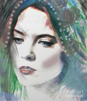 Mixed Media - Carrie Under Veil by Kim Prowse