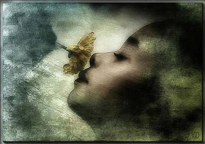 Dreamy Expression Digital Art - Carried Away By A Scent by Gun Legler