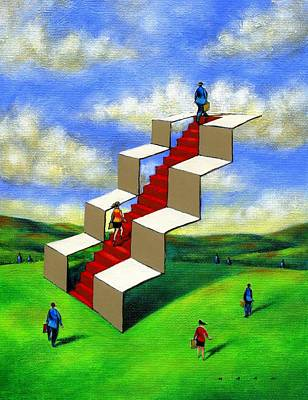 Financial Mixed Media - Carrier Path #1 by Kazu Nitta