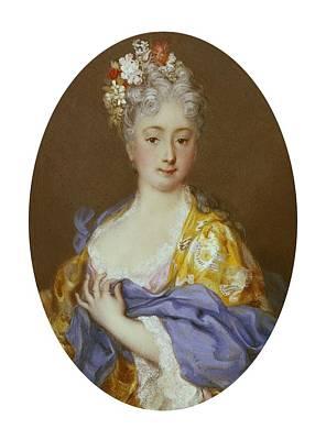 1757 Photograph - Carriera, Rosalba 1675-1757. Portrait by Everett