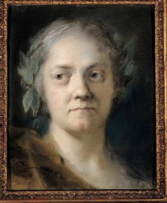 Self-portrait Photograph - Carriera Rosalba, Self-portrait, 1746 by Everett