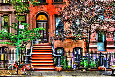 Bicycle Photograph - Carrie's Place - Sex And The City by Randy Aveille