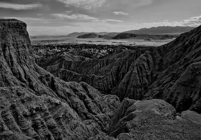 Photograph - Carrizo Badlands Bw Nov 2013 by Jeremy McKay
