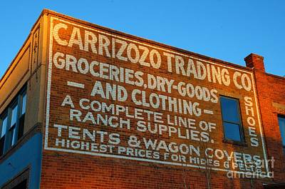 Historical Signs Photograph - Carrizozo Trading Company by Bob Christopher