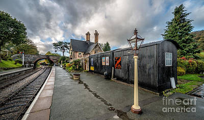Carrog Railway Station Art Print by Adrian Evans