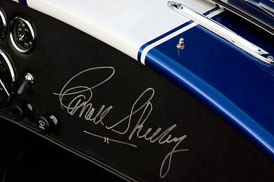 Photograph - Carroll Shelby Signature by Beverly Stapleton