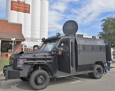Carrollton Texas Police Vehicle Art Print by Donna Wilson