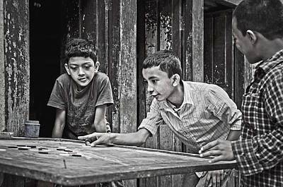 Photograph - Carrom Boys II by Valerie Rosen