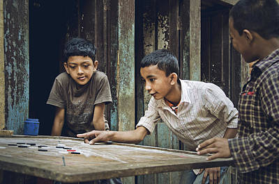 Photograph - Carrom Boys by Valerie Rosen