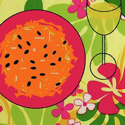Cookbook Digital Art - Carrot And Raisin Salad With Passion Fruit Vinaigrette by James Temple