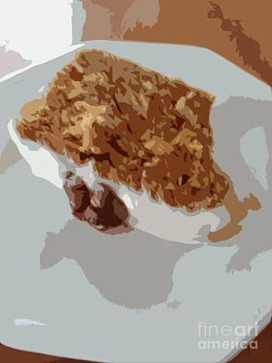 Abstract Forms Digital Art - Carrot Cake Yum by Carol Lynch