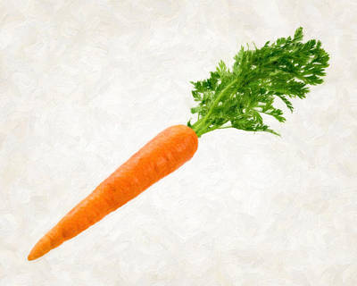 Healthy Eating Painting - Carrot by Danny Smythe