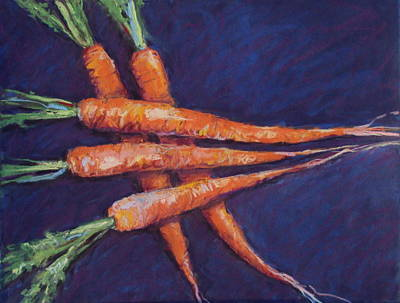 Carrot Stack Art Print by Kelley Smith