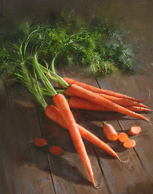 Cooks Illustrated Painting - Carrots by Robert Papp