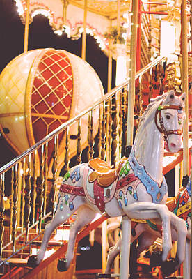 Photograph - Carrousel Horse On The Champ De Mars Paris by Heidi Hermes