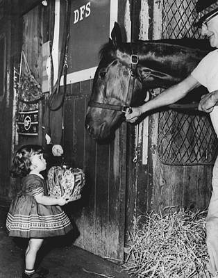 Carry Back Horse Racing Vintage Art Print