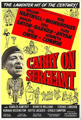 Carry On Sergeant, British Poster Art Print by Everett