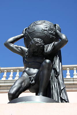 Bronce Photograph - Carry The Earth - Atlas At The Ringling Museum by Christiane Schulze Art And Photography