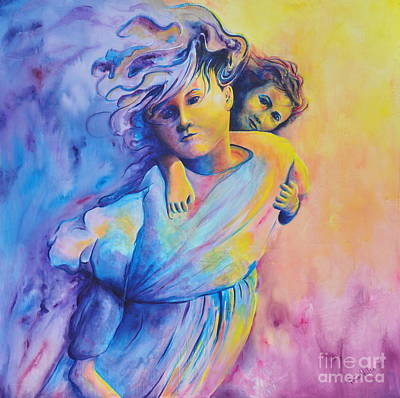 Painting - Carrying Her by Jaswant Khalsa