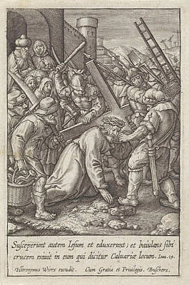 Carrying Of The Cross, Hieronymus Wierix Art Print by Hieronymus Wierix