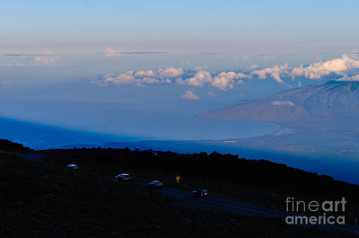 Photograph - Cars Descending The Road From Haleakala Crater Maui Hawaii Usa by Don Landwehrle