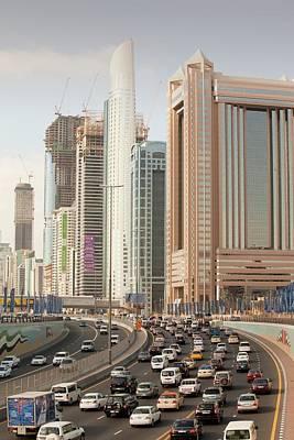 Cars In Dubai Art Print by Ashley Cooper