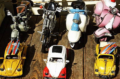 Outdoor Still Life Photograph - Cars Model For Sale Displayed At Store by Sami Sarkis